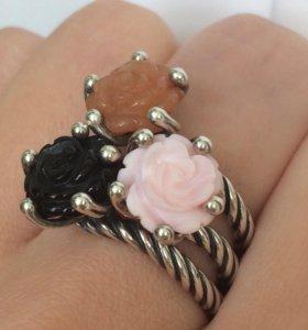 Кольцо роза пандора 54-55