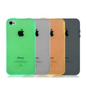 Ультратонкий силиконовый чехол iPhone 4/4s