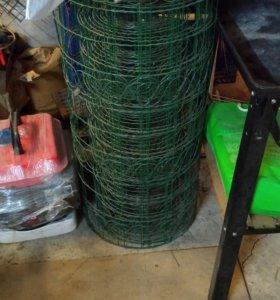 Сетка садовая металлическая в пластике