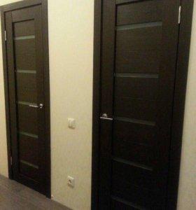 Двери, наличники, ручки хром