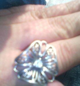 Кольцо серебро, второе в подарок)