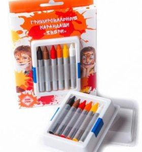 Набор гримировальных карандашей Звери