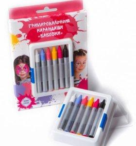 Набор гримировальных карандашей Бабочки