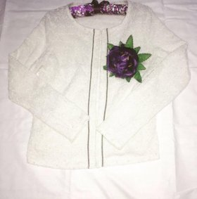 Нарядная белая кофта