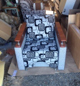 Кресло-кровать с пуфиком