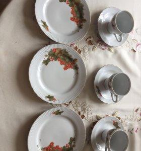 Чайный набор на 3 персоны