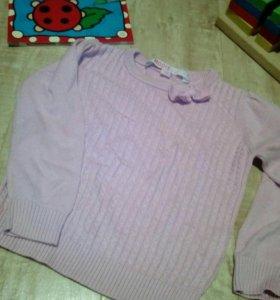 Пуловер хлопок,98,б/у