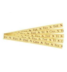 Клипсы, зажимы для пакетов чая Золотые 110*5 мм