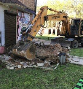 Снос и вывоз домов и ветхих строений, вывоз мусора