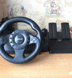 Игровой руль с коробкой передач. Defender Forsage