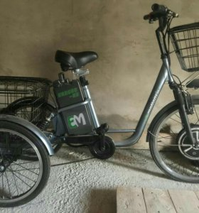 Трехколесный электровелосипед (трицикл)