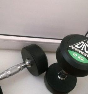 Новые гантели пара по 10 кг DFS POWERGYM