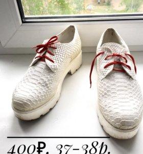 Ботинки белые женские