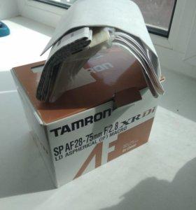 Тамрон 28-75. Коробка.