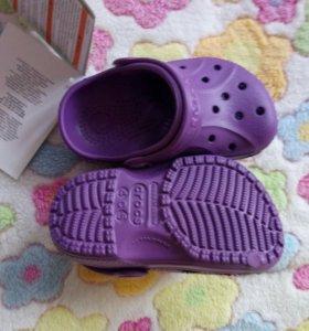 Новые Крокс Crocs оригинал, с 4-5