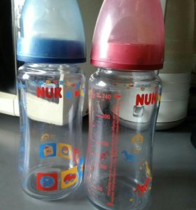 Бутылочка нук стеклянная