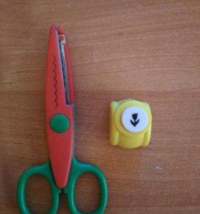 Продам фигурные ножницы, фигурный дорокол.