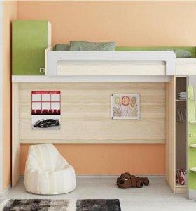 Кровать-чердак детская/подростковая