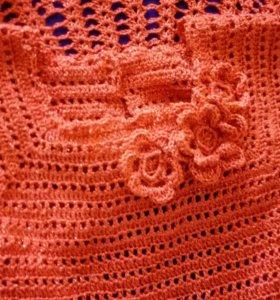 Платье вязаное. Возраст до года. Ручная работая. Н