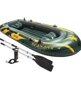 Лодка+весла+насос