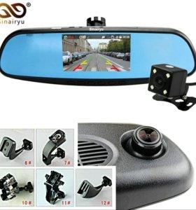 Видеорегистратор - зеркало, с камерой заднего вида