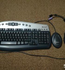 Комплект, беспроводная клавиатура +мышь Microsoft