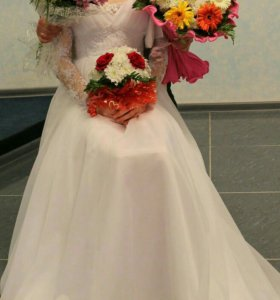 Классическое свадебное платье в греческом стиле