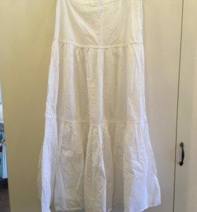 Брендовая юбка и топ с шелковой блузой Van Laack