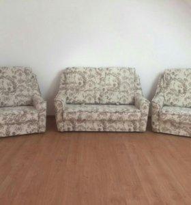 Набор мягкой мебели диван+2кресла кровати