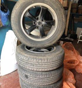 Колеса Enkei r17 215/70 Bridgestone h/l 400