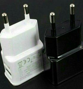 Зарядное устройство с двумя USB портами 2 ам 5 В