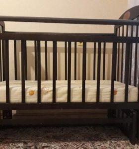 Детская кровать качели