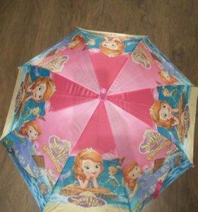 Зонт детский с принтом