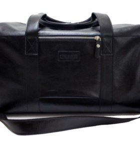 Мужская спортивная сумка из натуральной кожи