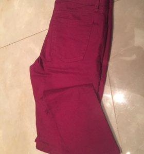 Джинсы женские бордовые новые штаны брюки