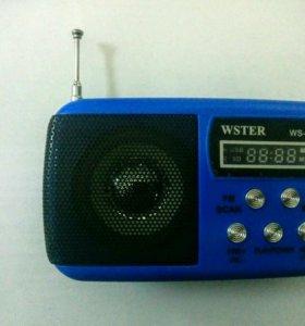 FM радио+ портативная колонка