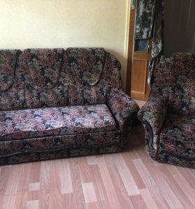 Диван + кресло