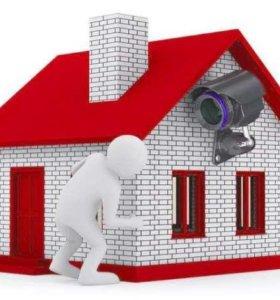 Видеонаблюдение,домофоны,сигнализация (установка)