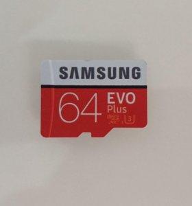 Новая карта памяти MicroSD SAMSUNG EVO для 4К