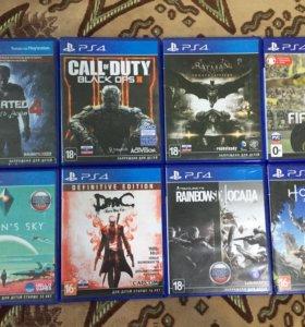 Лицензионные диски на Sony PlayStation 4 по 1500 р
