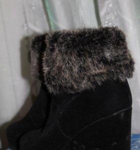 Зимние полусапожки на платформе с мехом