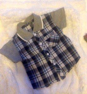 Рубашечка новая! От 1 до 1,5 лет