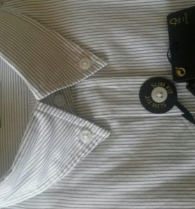 Рубашка massimo dutti новая серая полоска