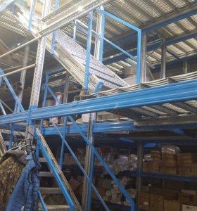 Продам стеллажное оборудование система-мезонин