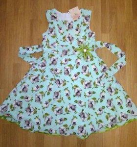 Новое платье 128-134