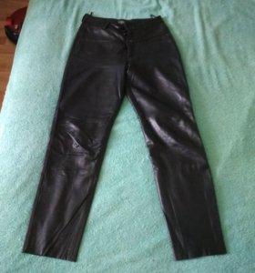 Кожаные брюки 46 р-р