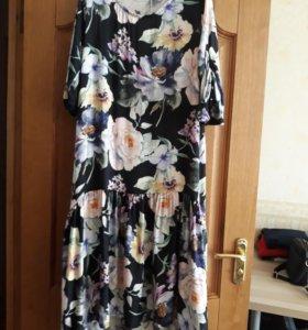 Платье Италия, цветочное, 46-50