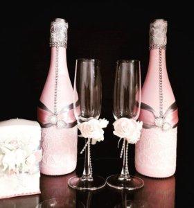 свадебные аксессуары и приглашения, казна, фужеры