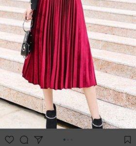 Новая плессированная юбка