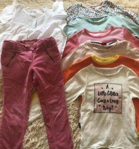 Фирменные вещи пакетом для девочки